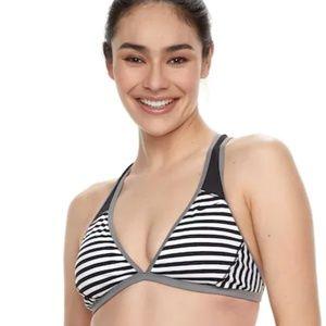 Black & White striped Nike adjustable BikinI Top